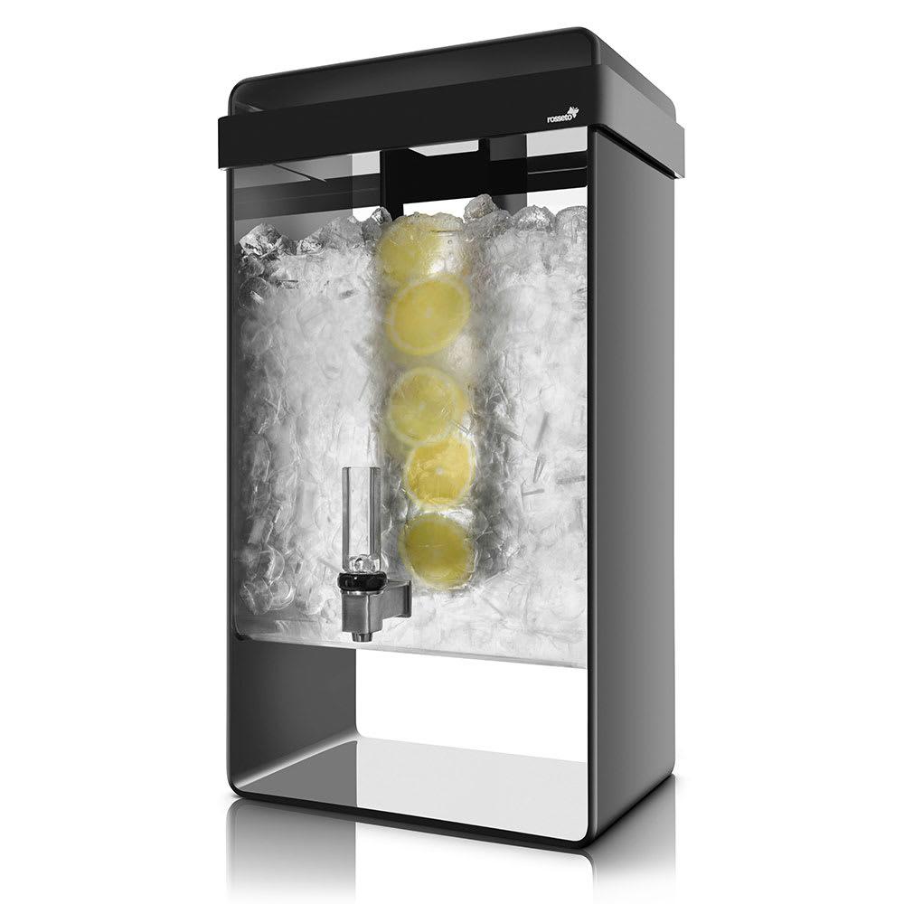 Rosseto LD156 5-gal Beverage Dispenser - Acrylic Base, Black