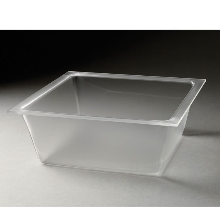 """Rosseto LDT1401 13-3/10"""" Square Flat Serving Tray - Frosted Acrylic"""