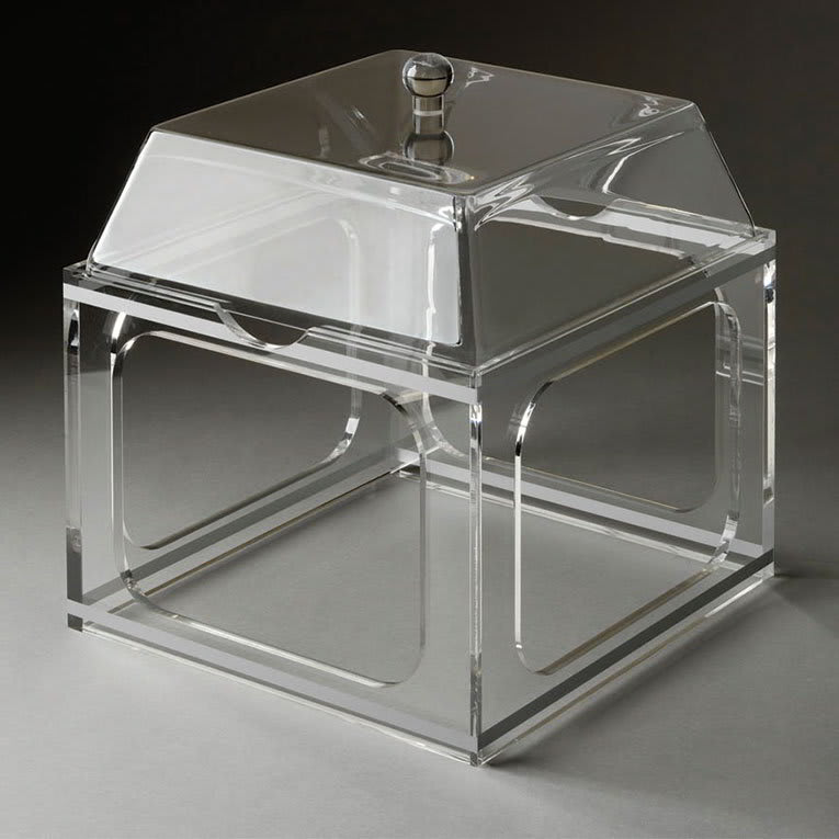 Rosseto LMP1364 Large Mod Pod Container with Riser - Acrylic, Clear