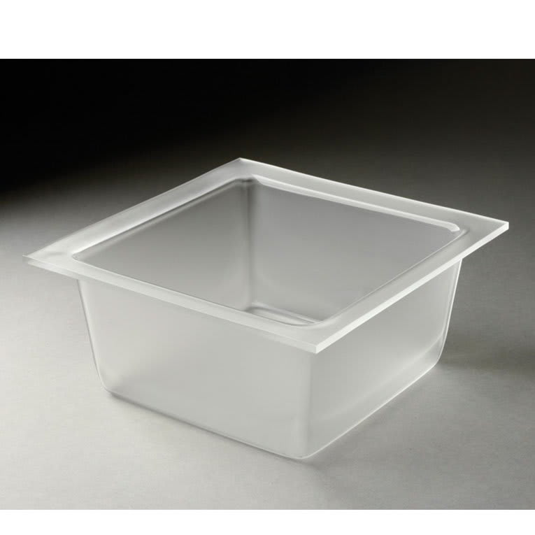 "Rosseto MDT1456 9-2/5"" Square Serving Bowl - Frosted Acrylic"