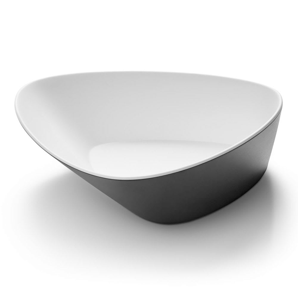 Rosseto MEL010 80 oz Triangular Bowl - Melamine, Black