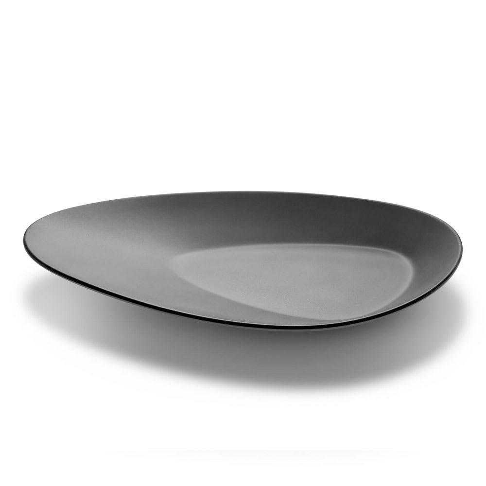 """Rosseto MEL011 12.8"""" Triangular Platter - Melamine, Black & White"""