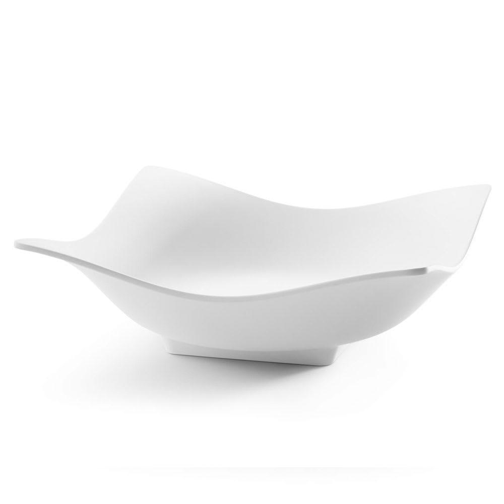Rosseto MEL012 96-oz Square Bowl - Melamine, White