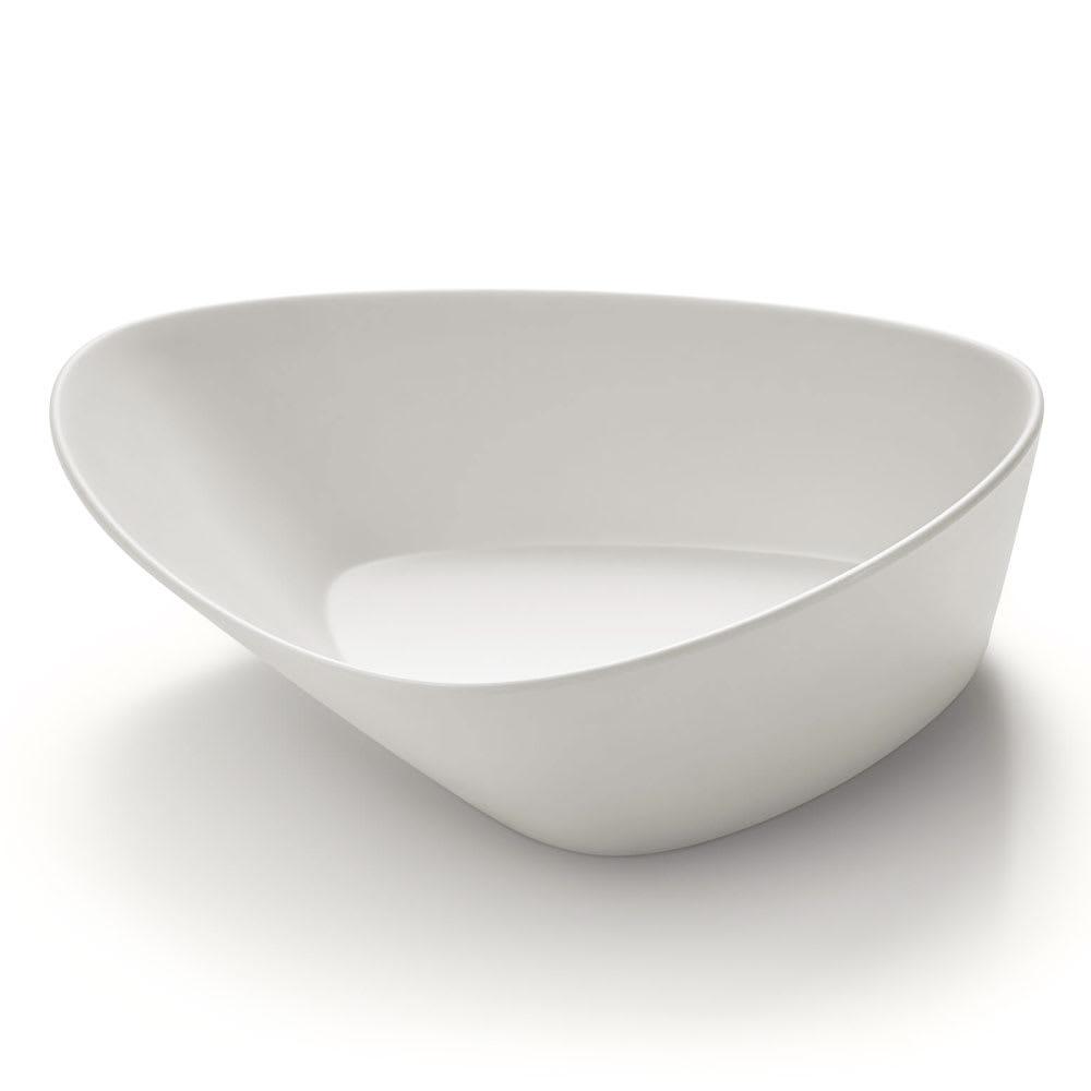 Rosseto MEL018 80-oz Triangular Bowl - Melamine, Ivory