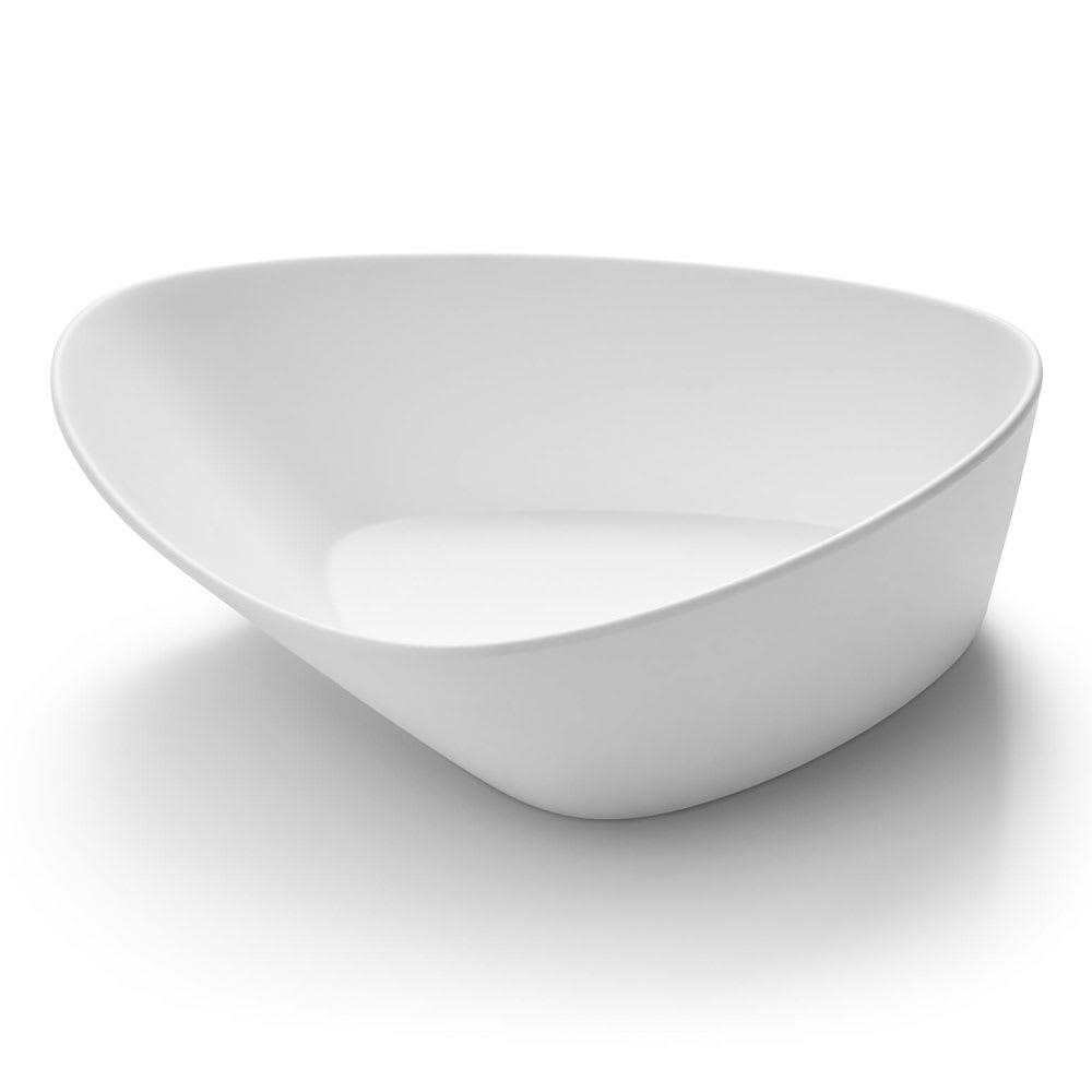 Rosseto MEL020 80-oz Triangular Bowl - Melamine, White