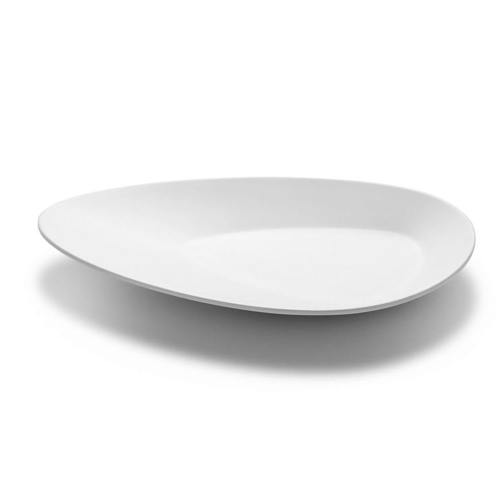 """Rosseto MEL021 12.8"""" Triangular Platter - Melamine, White"""