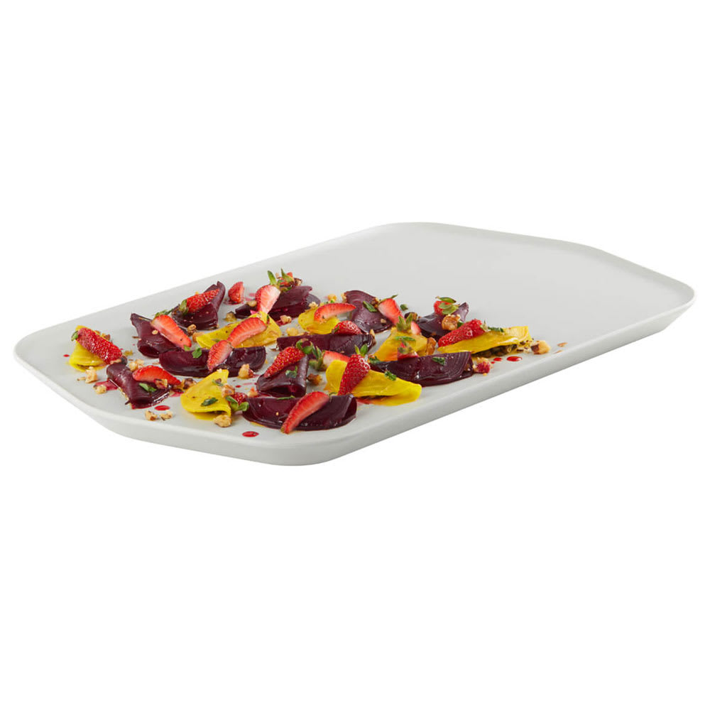 "Rosseto MEL024 Rectangular Serving Tray - 20.31 x 12.31"", Melamine, White"