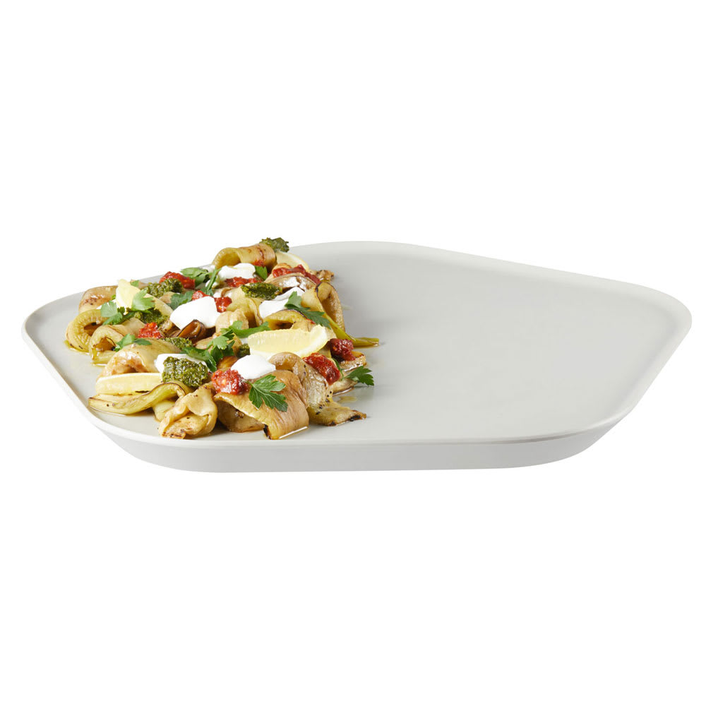 "Rosseto MEL025 12.25"" Polygon Serving Tray - Melamine, Ivory"