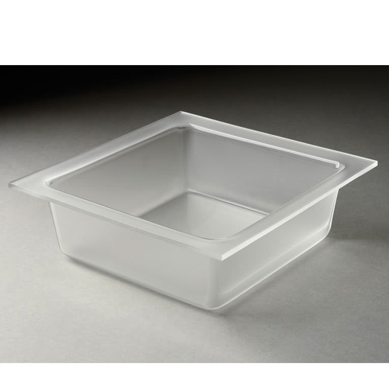 Rosseto MST1449 Medium Square Serving Bowl - Frosted Acrylic