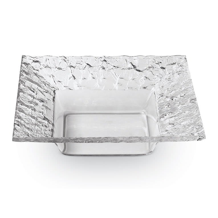 """Rosseto PPS10C 10"""" Square Acrylic Serving Dish - Clear"""