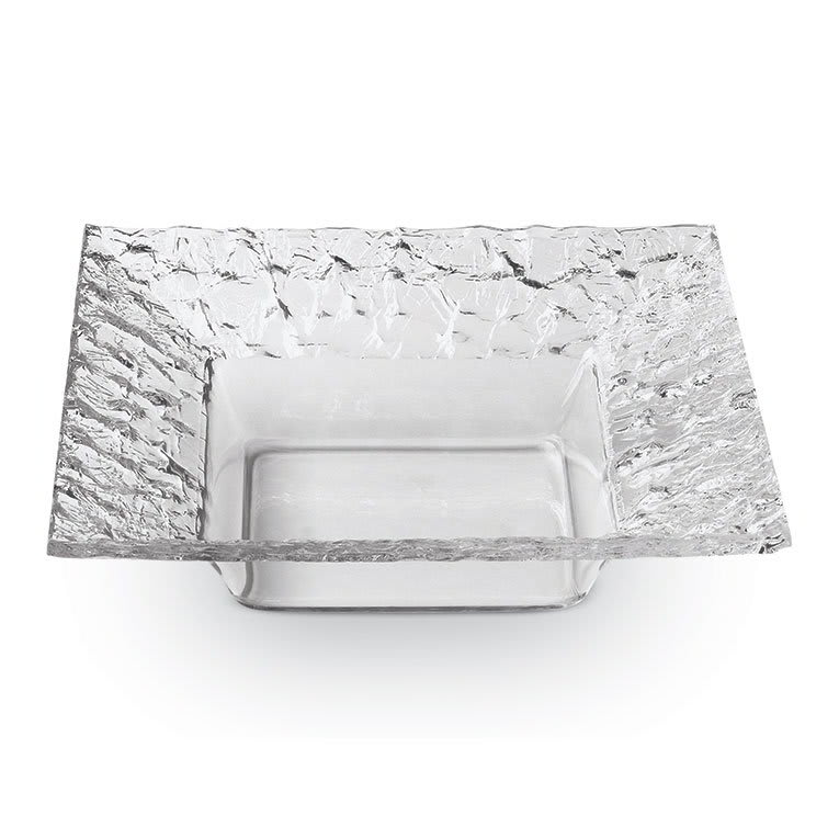 "Rosseto PPS7C 7"" Square Acrylic Serving Dish - Clear"