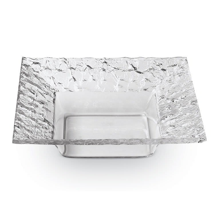 "Rosseto PPS8C 8"" Square Acrylic Serving Dish - Clear"