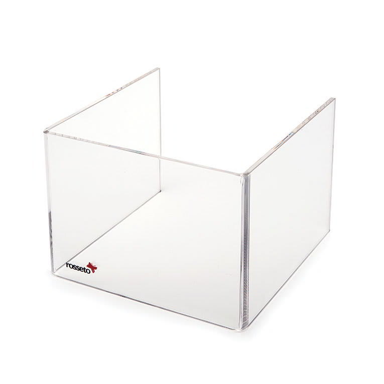 "Rosseto SA108 Short Windguard For 7"" Square Warmer - Clear Acrylic"