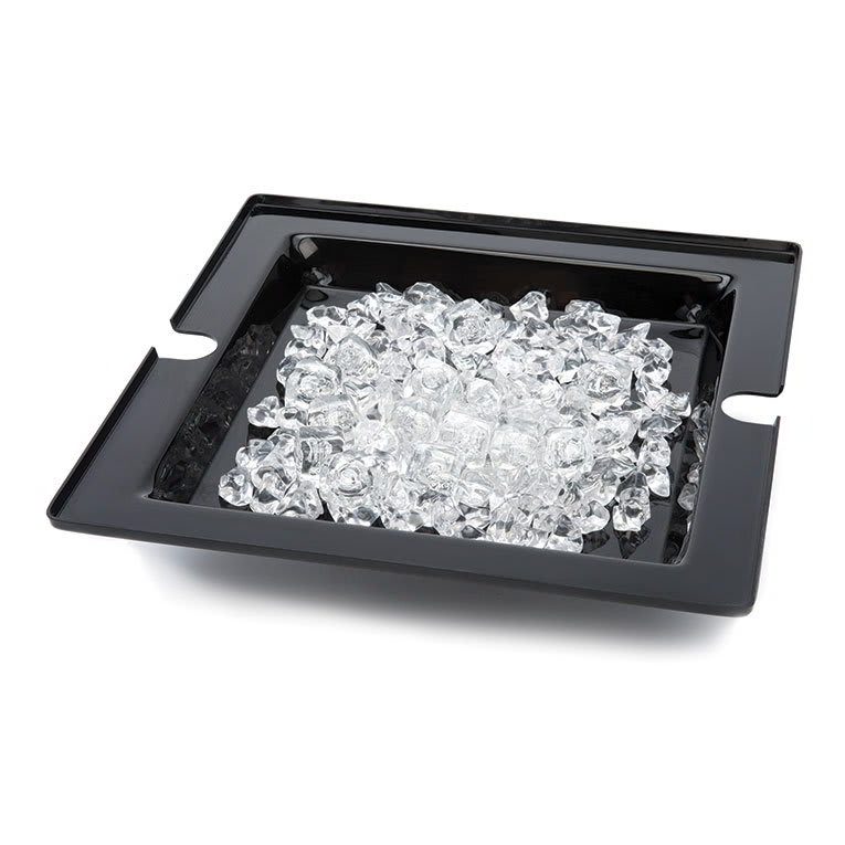 Rosseto SA122 Square Ice Display Platter for SM220 & SM221, Acrylic, Black