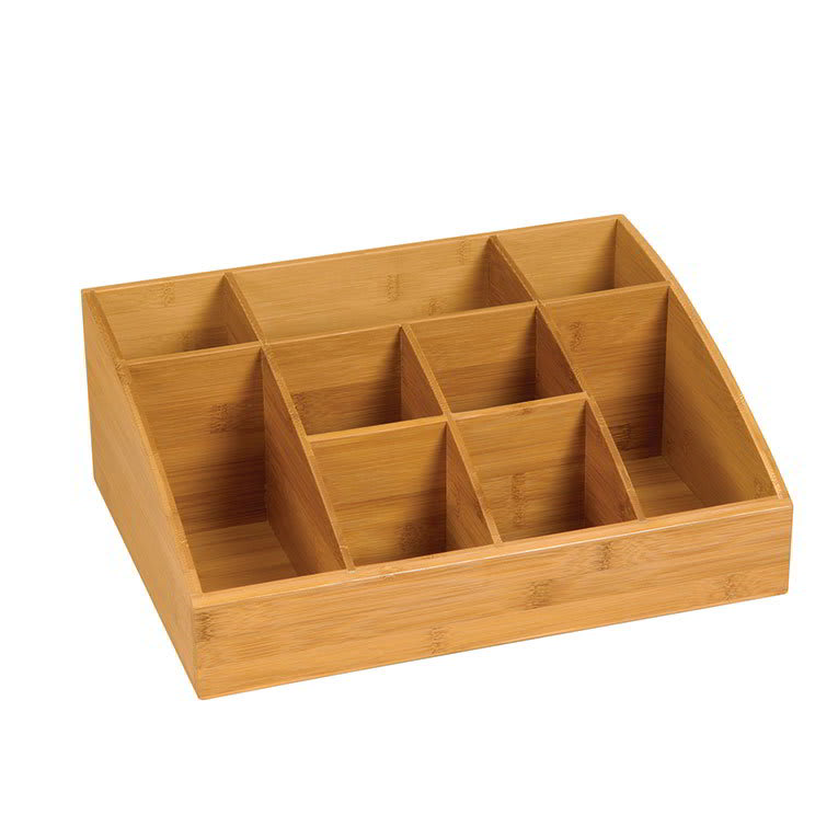 "Rosseto SB103 9 Compartment Display Organizer - 16x12x6"" Bamboo"