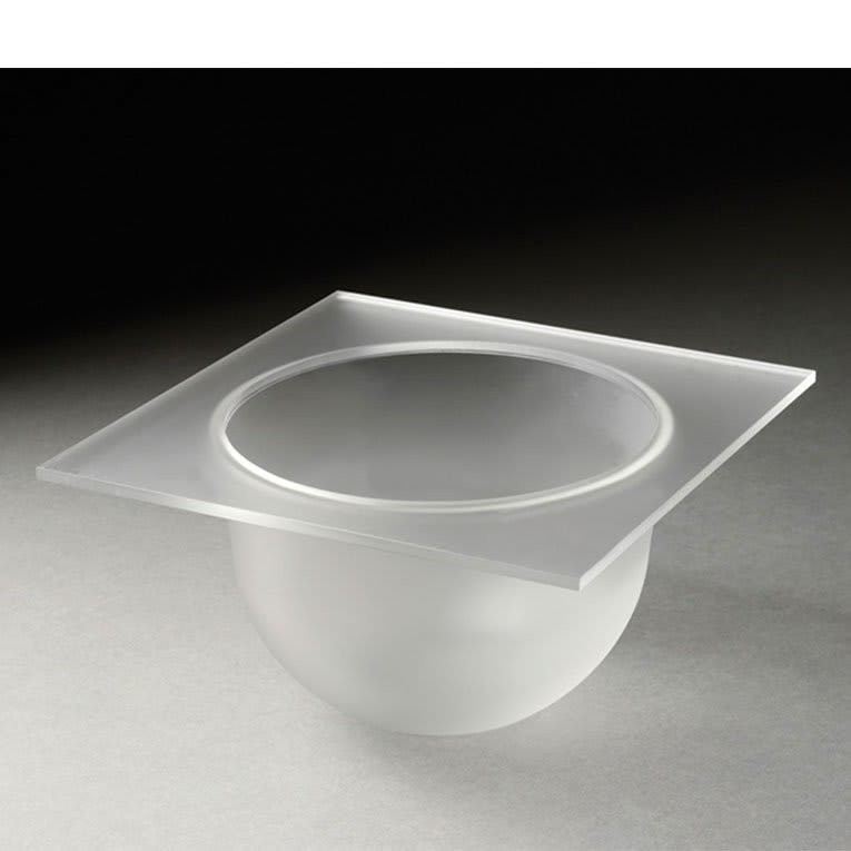 "Rosseto SBT1494 4"" Round Mod Pod Bowl Tray - Frosted Acrylic"