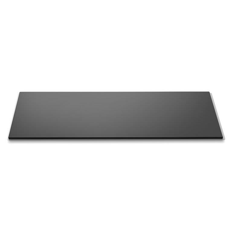 """Rosseto SG002 Rectangular Glass Display Platter - 34x8"""" Black"""
