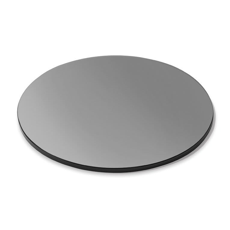 "Rosseto SG004 14"" Round Glass Display Platter - Black"