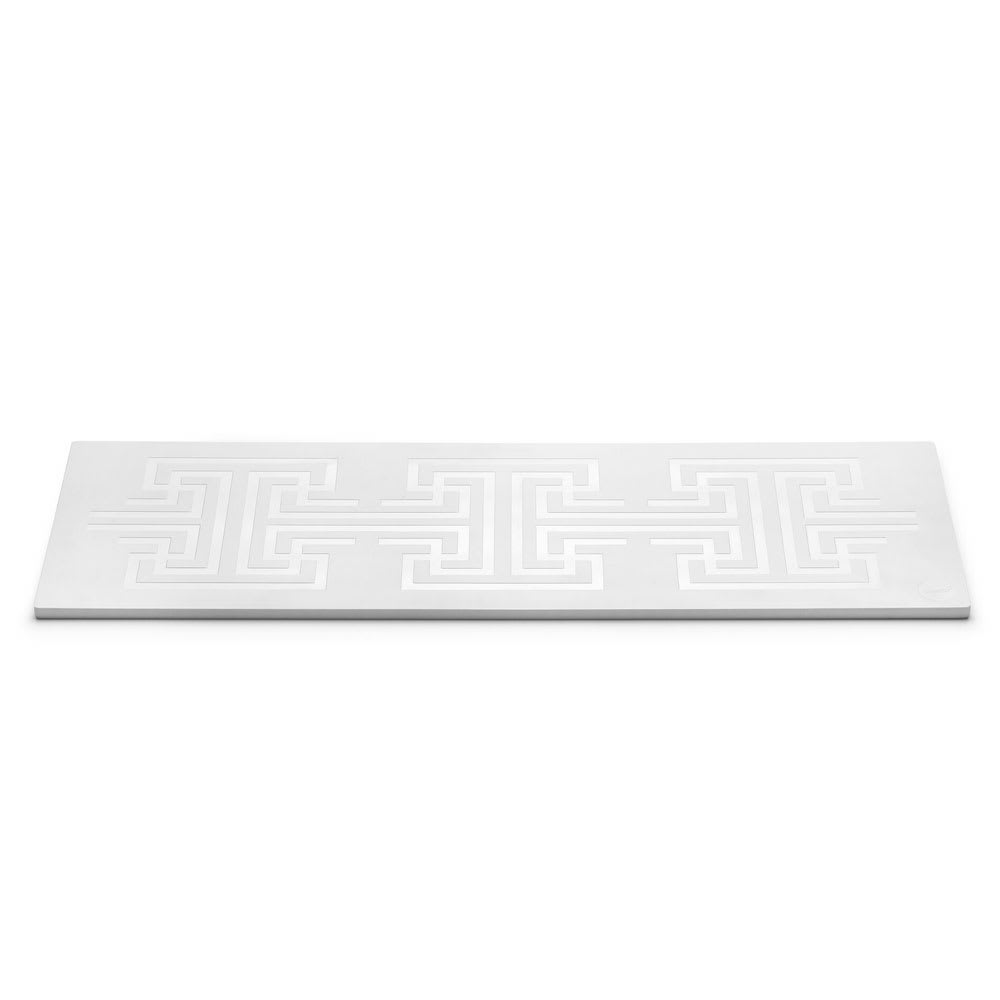 "Rosseto SG038 Rectangular Serving Tray - 27.6"" x 9.4"", Melamine, White"
