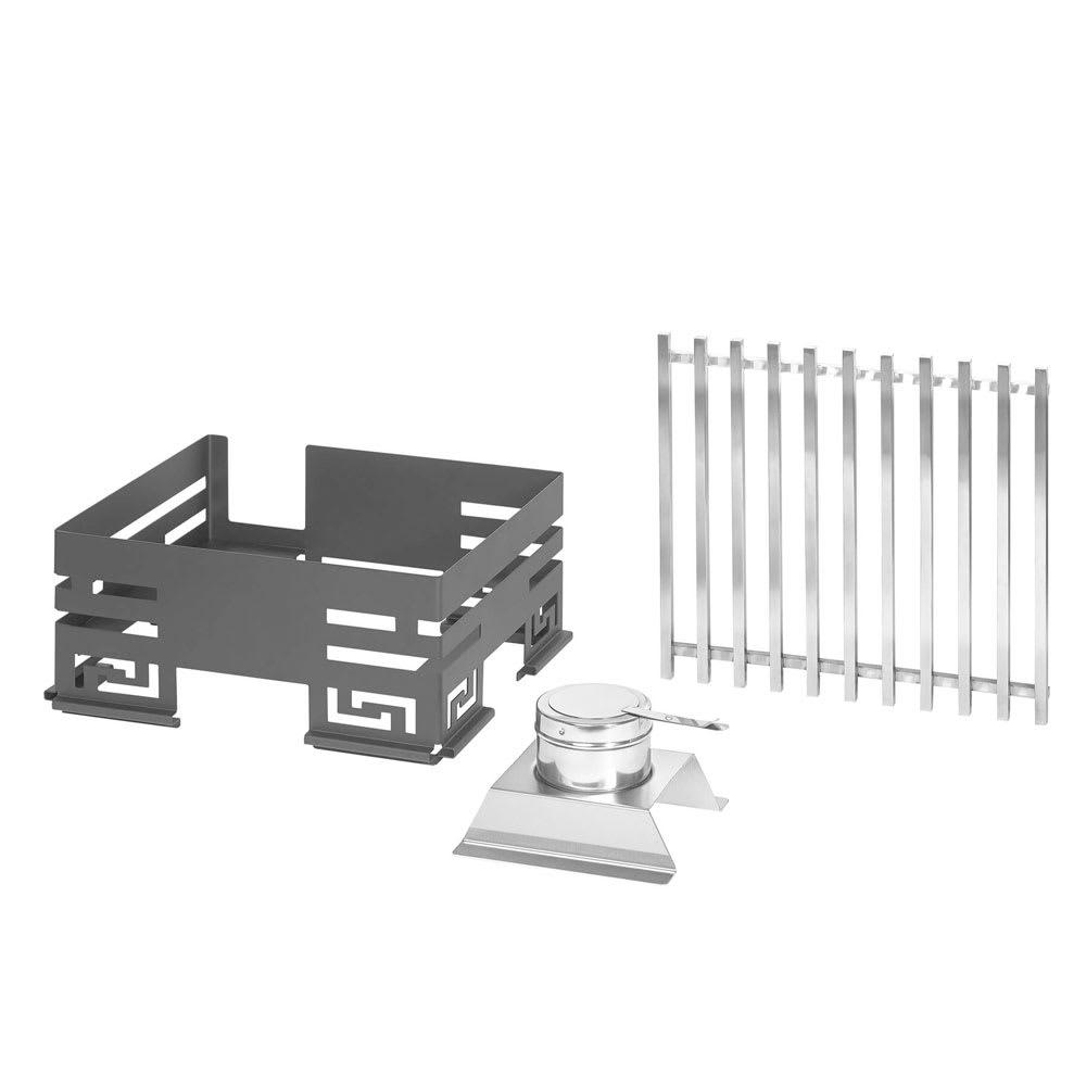 """Rosseto SK041 Rectangular Warmer Kit - 13"""" x 15"""" - Stainless, Black"""