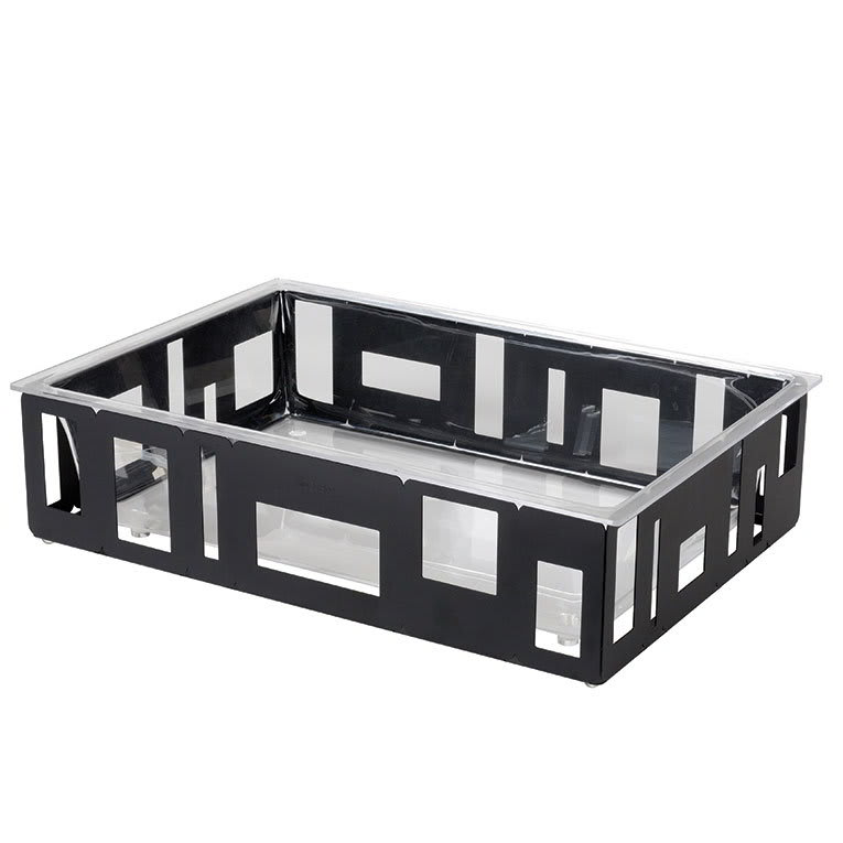 "Rosseto SM114 Rectangular Ice Tub - 26 1/2x18 1/2x7"" Acrylic/Black"