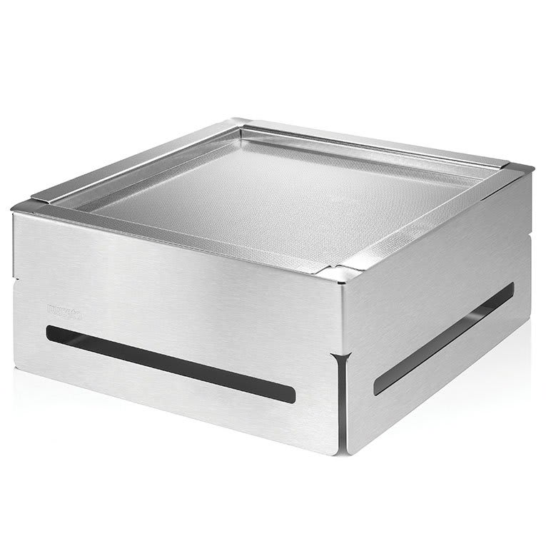 """Rosseto SM163 14-1/4"""" Square Cooler Set - 6-1/2"""" High, Stainless/Acrylic"""