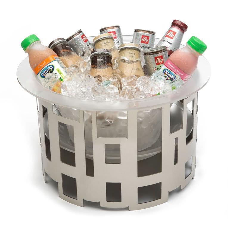 "Rosseto SM183 14"" Round Ice Tub - Acrylic/Stainless"