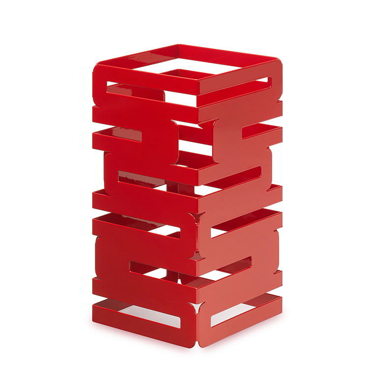 "Rosseto SM186 12"" Square Multi-Level Riser - Red Gloss Finish"