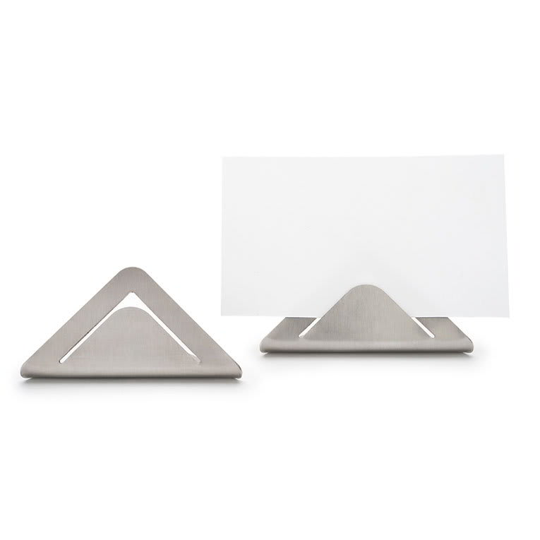 "Rosseto SM196 Card Sign Holders - 1.3x2.6x1.2"" Stainless"