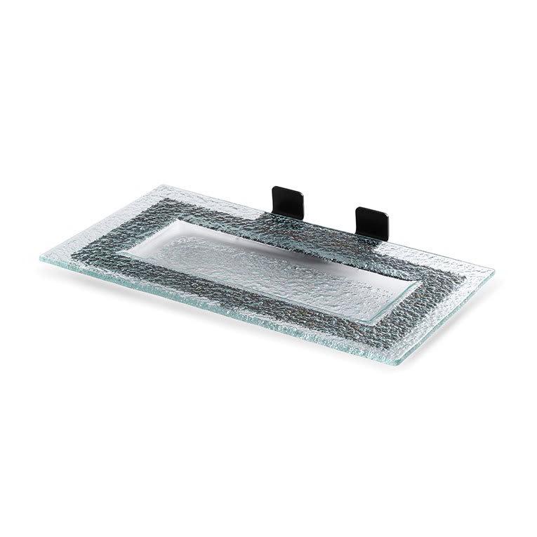 Rosseto SM207 Shelf for Skycap Risers w/ Green Platter & Black Matte Frame