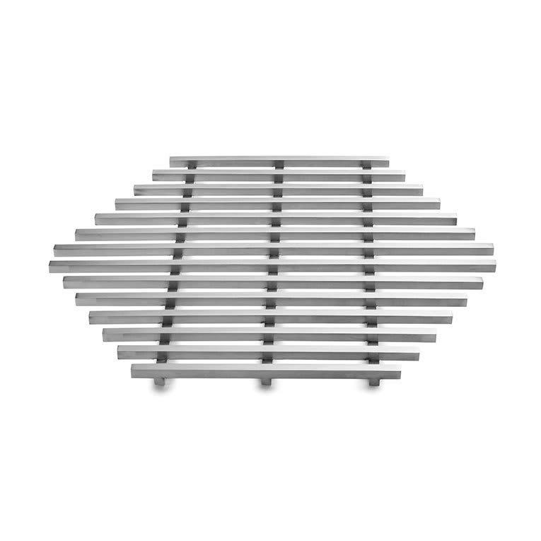 Rosseto SM225 Track Grill - Honeycomb SHaped, Stainless
