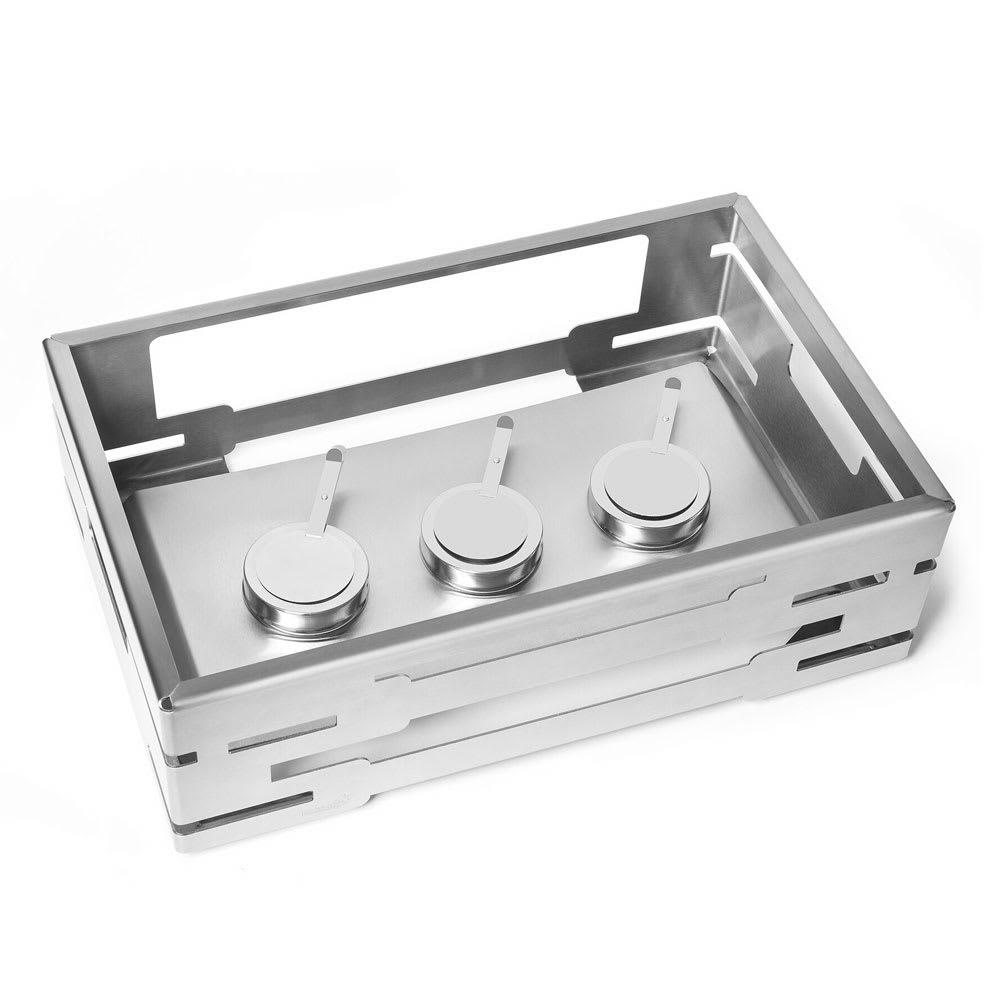 """Rosseto SM229 Rectangular Warmer Kit - 21.6"""" x 13.57"""" x 7"""", Stainless"""