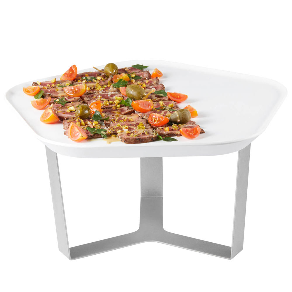 "Rosseto SM270 7"" Display Riser w/ 12.25"" Melamine Tray, Stainless"