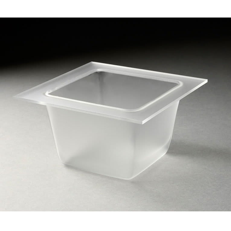 "Rosseto SST1500 5-2/5"" Square Mod Pod Tray - Frosted Acrylic"
