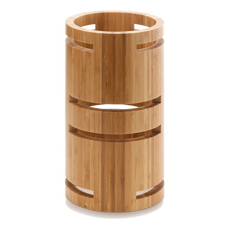 "Rosseto SW106 12"" Round Multi-Level Riser - Bamboo, Natural Finish"