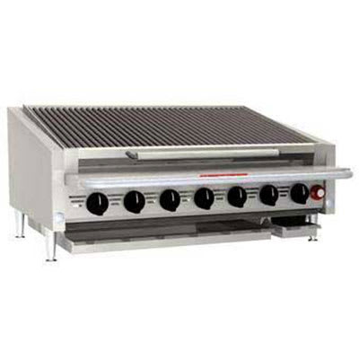 """Magikitch'n APL-RMB-636CR 36"""" Counter Top Cast Iron Radiant Charbroiler w/ EZ Tilt, NG"""