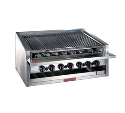 """Magikitch'n APM-RMB-636 36"""" Radiant Charbroiler w/ Round Rod Top Grate, LP"""