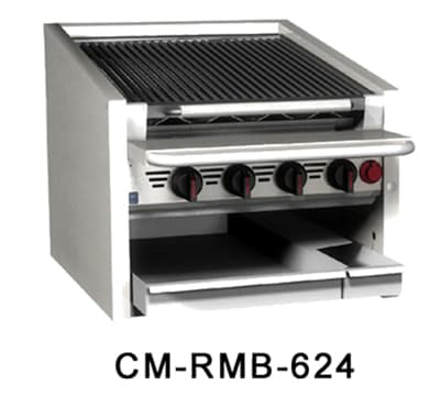"Magikitch'n CM-RMB-648 48"" Radiant Charbroiler w/ Round Rod Top Grate, LP"