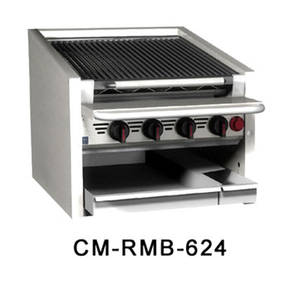 "Magikitch'n CM-RMB-648  48"" Radiant Charbroiler w/ Round Rod Top Grate, NG"