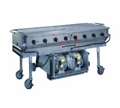 """Magikitch'n LPAGA-60-SS 60"""" Mobile Gas Commercial Outdoor Grill w/ Water Pans, LP"""