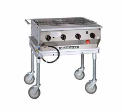"Magikitch'n LPG-30 30"" Mobile Gas Commercial Outdoor Grill w/ Water Pans, LP"