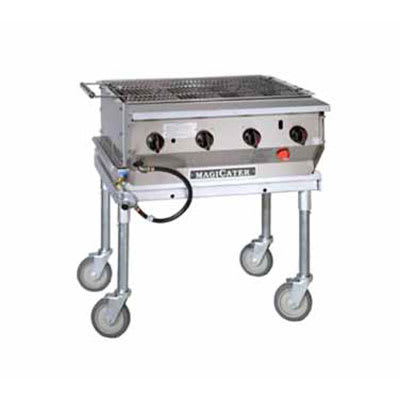 "Magikitch'n LPG-30-SS 30"" Mobile Gas Commercial Outdoor Grill w/ Water Pans, LP"