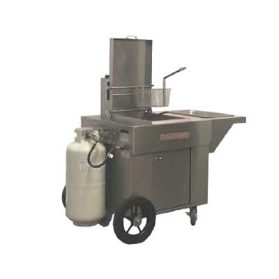 Magikitch'n MCF18 Outdoor Gas Fryer - (1) 65-lb Vat, NG