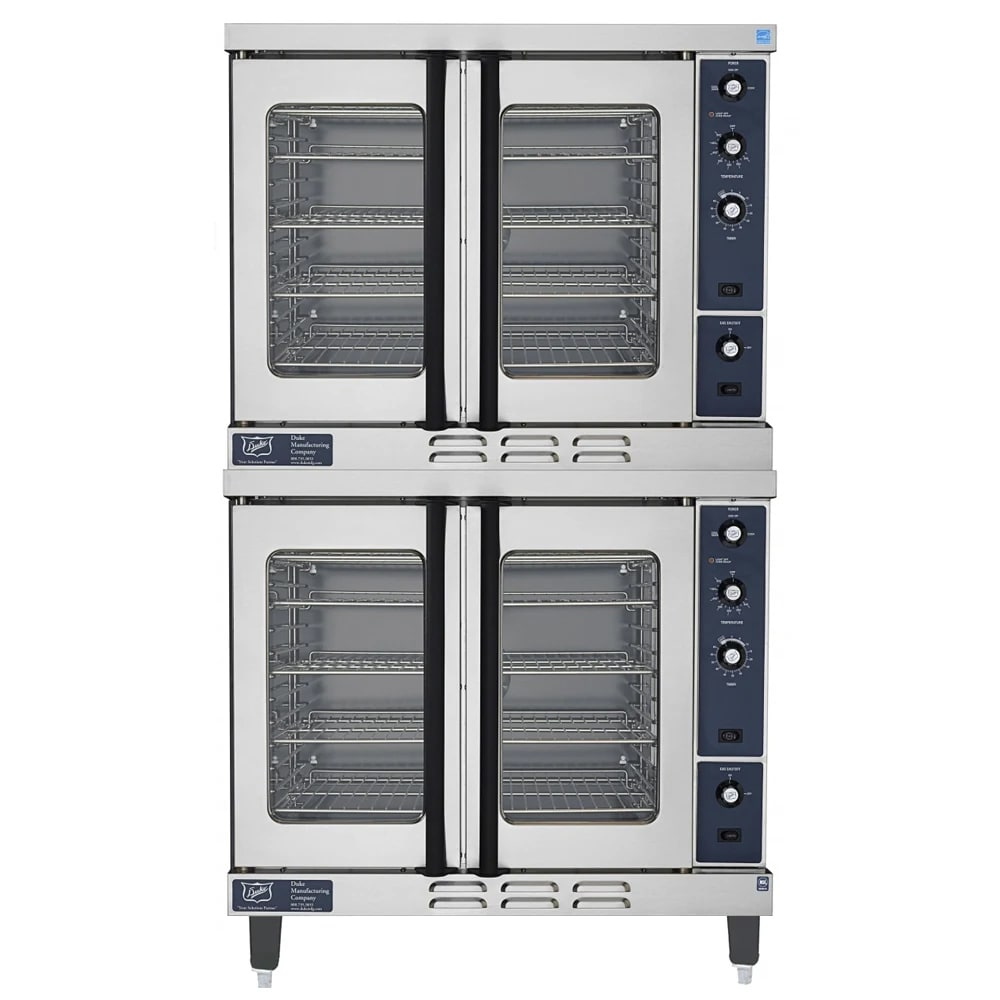Duke E102-G Double Full Size LP Gas Convection Oven - 40,000 BTU