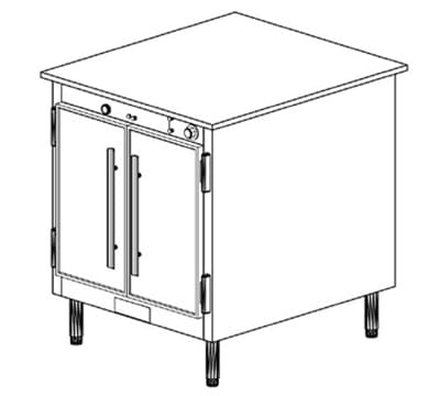 Duke 1151 2401 Reach In Heated Holding Cabinet w/ 1-Thermostat, Legs, 240/1 V
