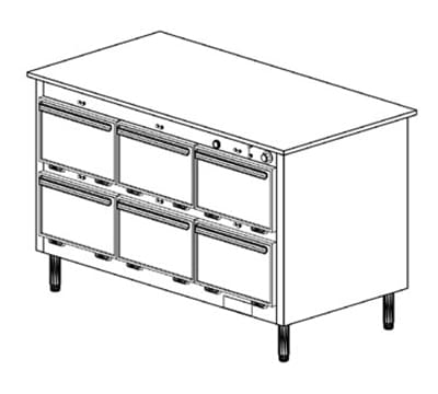 Duke 1203 Freestanding Insulated Heated Cabinet w/ (18) Pan Capacity, 240v/1ph