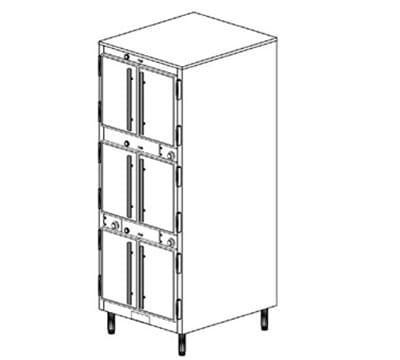 Duke 1253P 2401 Pass Thru Heated Holding Cabinet, 1-Thermostat Per 3-Compartments, 240/1 V