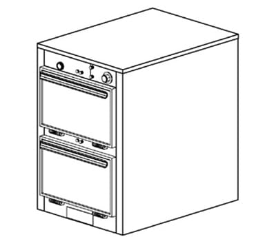 Duke 1302P 120 Pass Thru Heated Holding Cabinet, 1-Thermostat Per 2-Compartment, 120 V