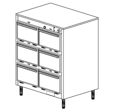 Duke 1306 2081 Reach In Heated Holding Cabinet, 1-Thermostat Per 6-Compartments, Legs, 208/1 V