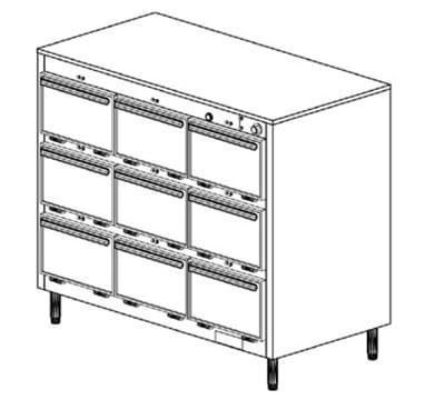 Duke 1309 Freestanding Insulated Heated Cabinet w/ (27) Pan Capacity, 120v